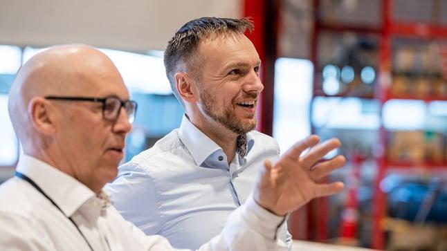 Odd Magne Vea in RamBase Cloud ERP and Inge Brigt at Arbakke Smart Factory