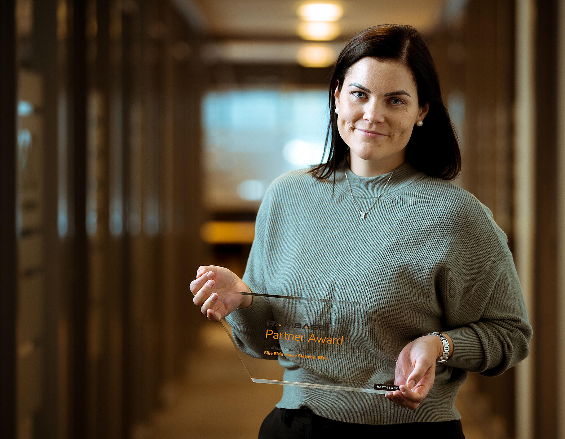 Silje from BDO winner of the RamBase award 2020
