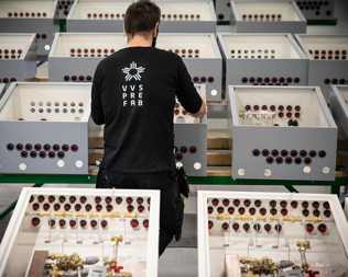 VVS Prefab employee assembling products